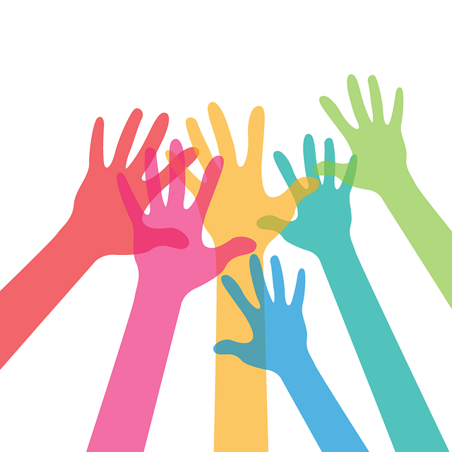 group-of-hands-benefits-of-talking-to-people
